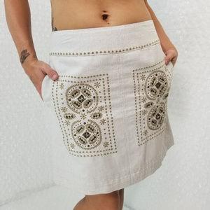Anthropologie ▪ Floreat embroidered mini skirt